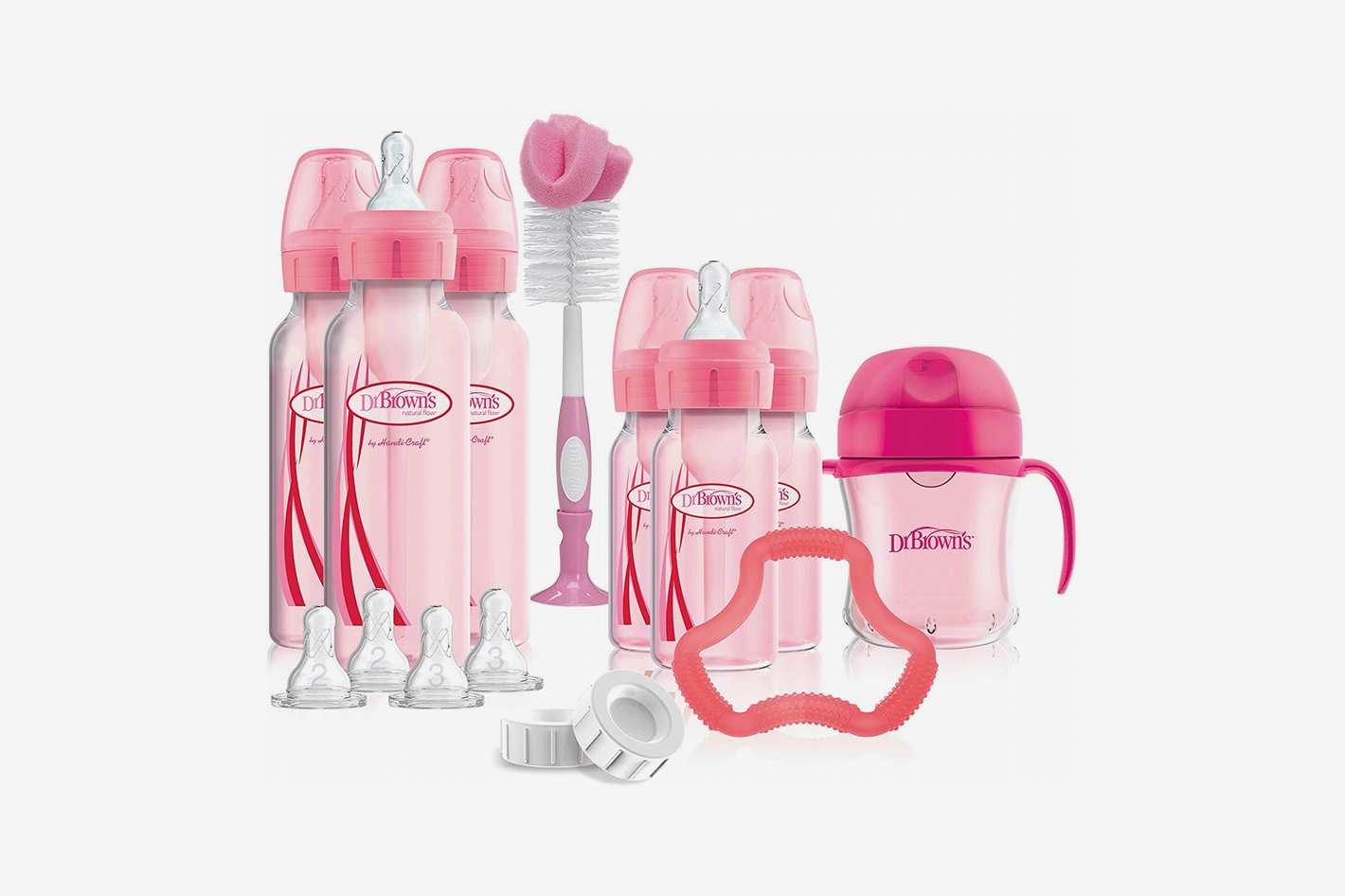 Dr. Brown's Options+ Baby Bottles Gift Set, Pink