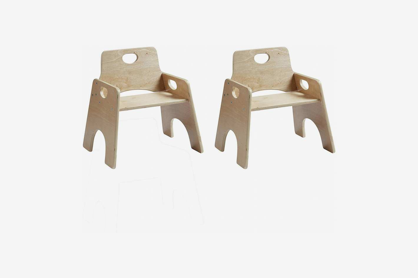 """ECR4Kids 8"""" Stackable Wooden Chair for Toddlers"""