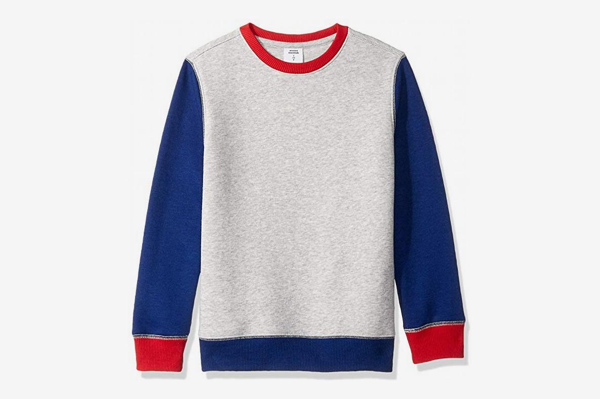 Amazon Essentials Boys' Crew Neck Sweatshirt