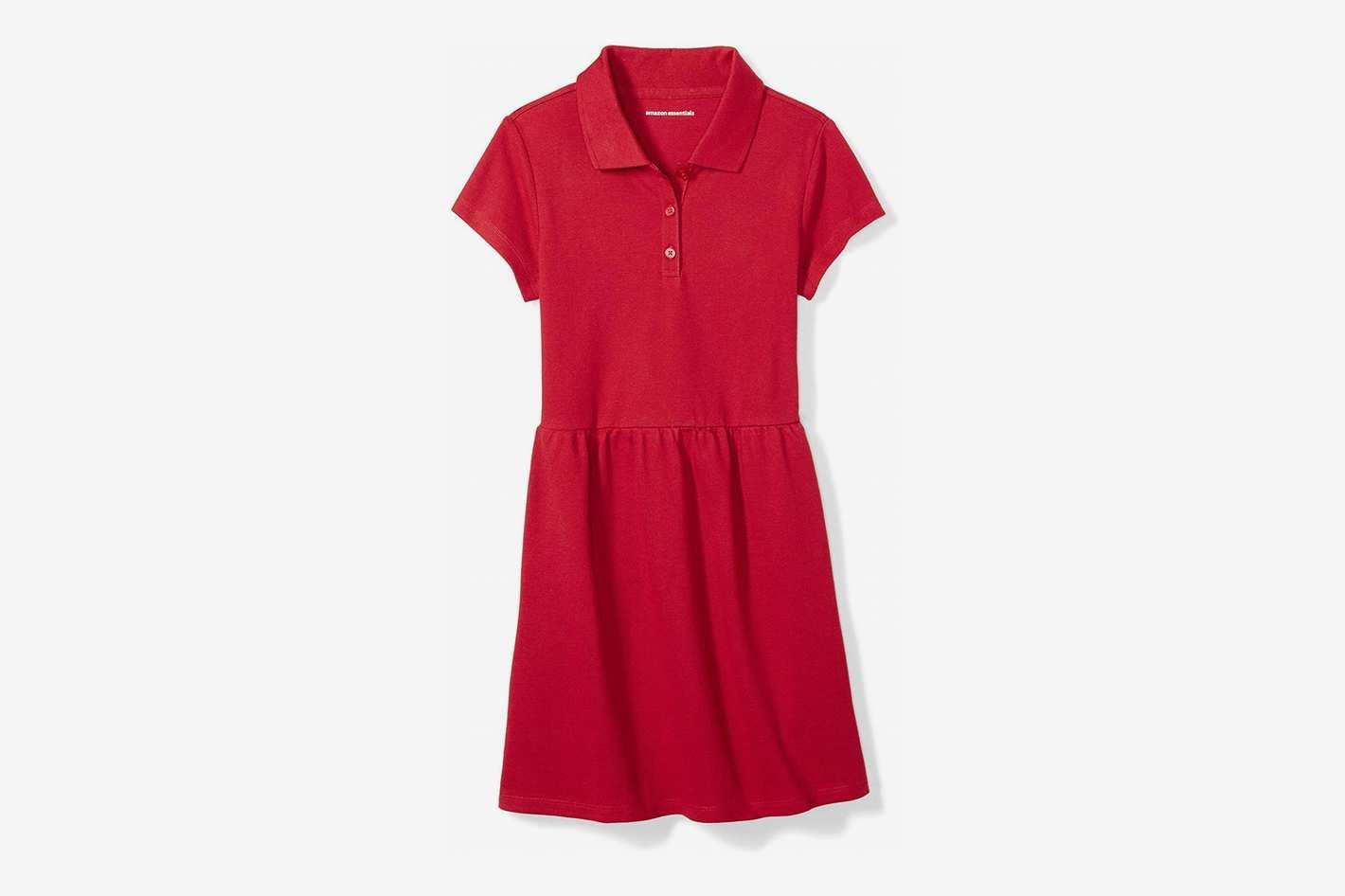 Amazon Essentials Girls' Short-Sleeve Polo Dress