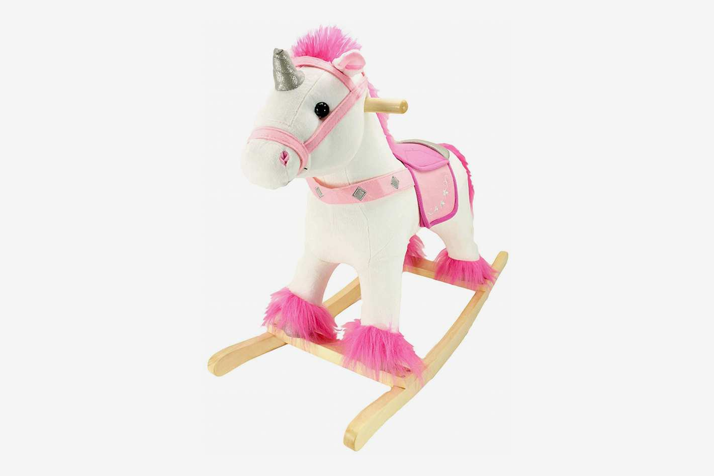 Animal Adventure Unicorn Real Wood Ride-On Plush Rocker