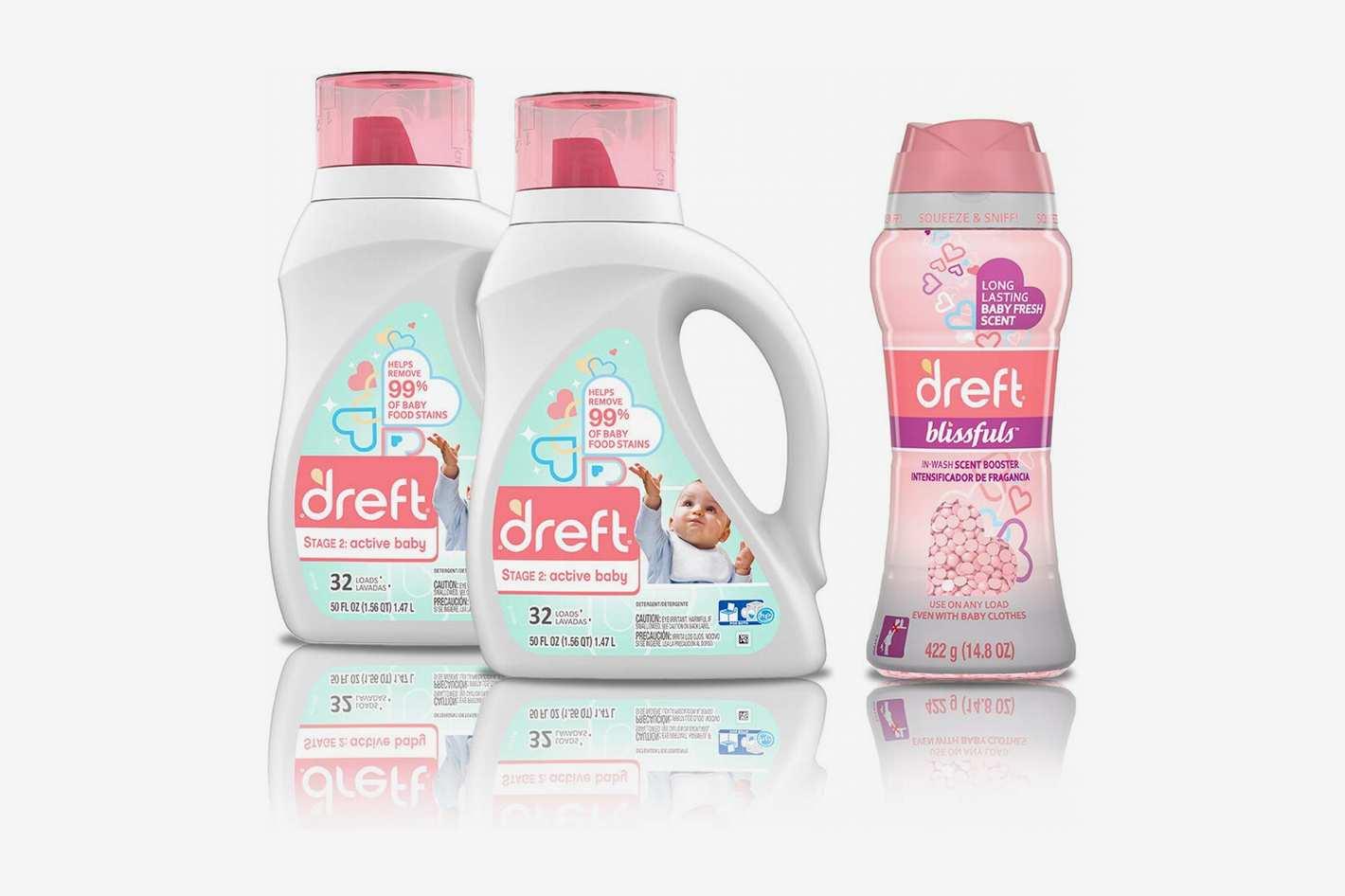 Dreft Stage 2: Active Hypoallergenic Liquid Baby Laundry Detergent
