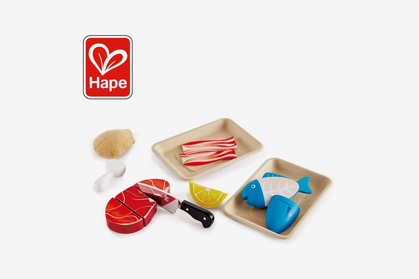 Hape Tasty Proteins Wooden Play Food Set