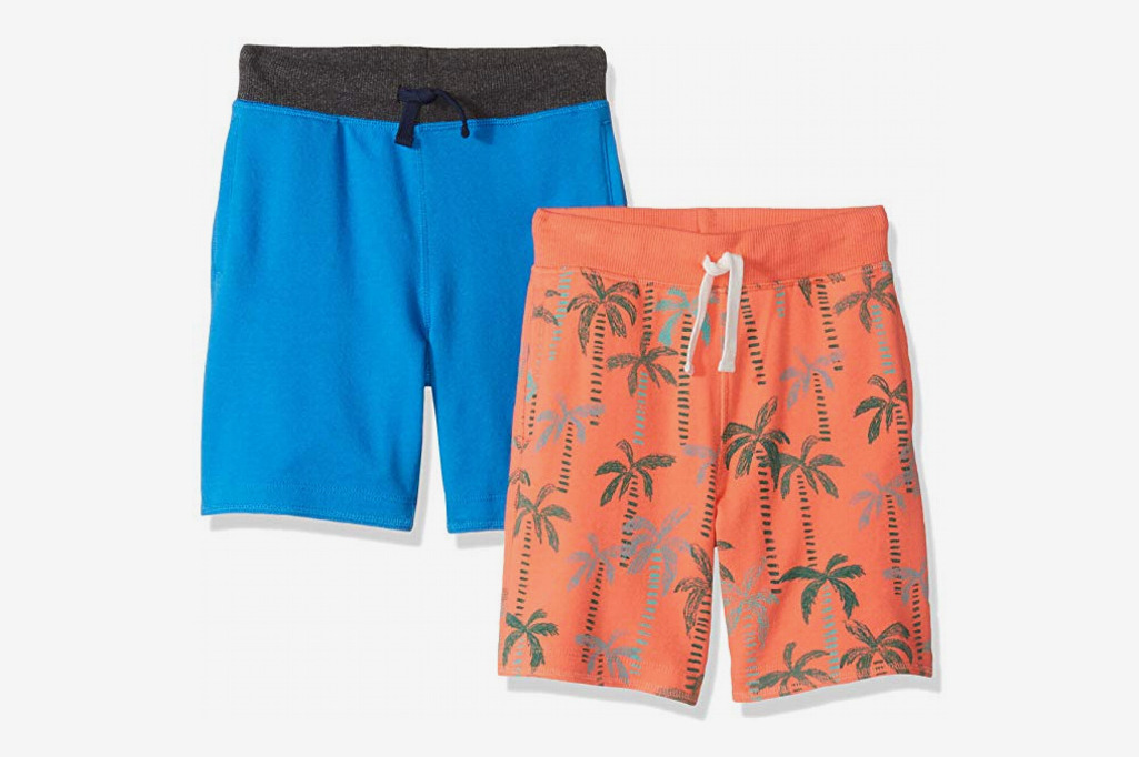 Spotted Zebra Boys' 2-Pack French Terry Knit Shorts