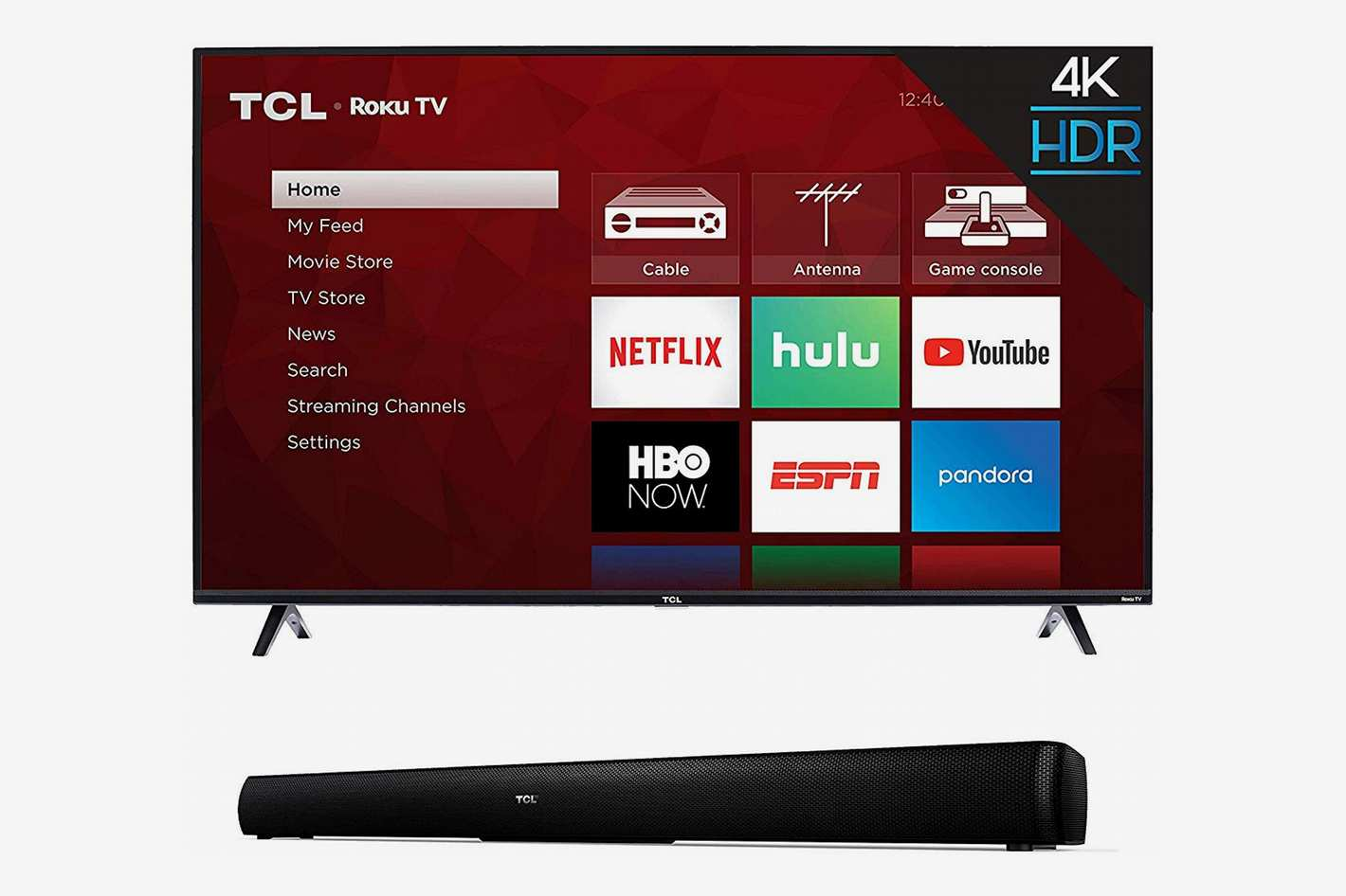 TCL 43 Inch 4K Ultra HD Smart Roku LED TV (2018) with TCL Alto 5 2.0 Channel Home Theater Sound Bar - TS5000