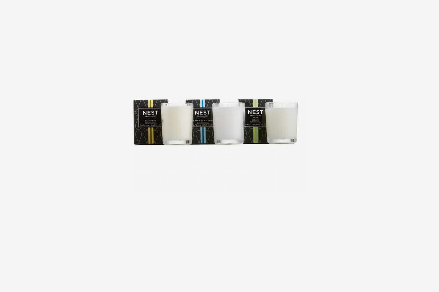 NEST Fragrances Grapefruit, Ocean Mist & Sea Salt and Bamboo Votive Candle Trio