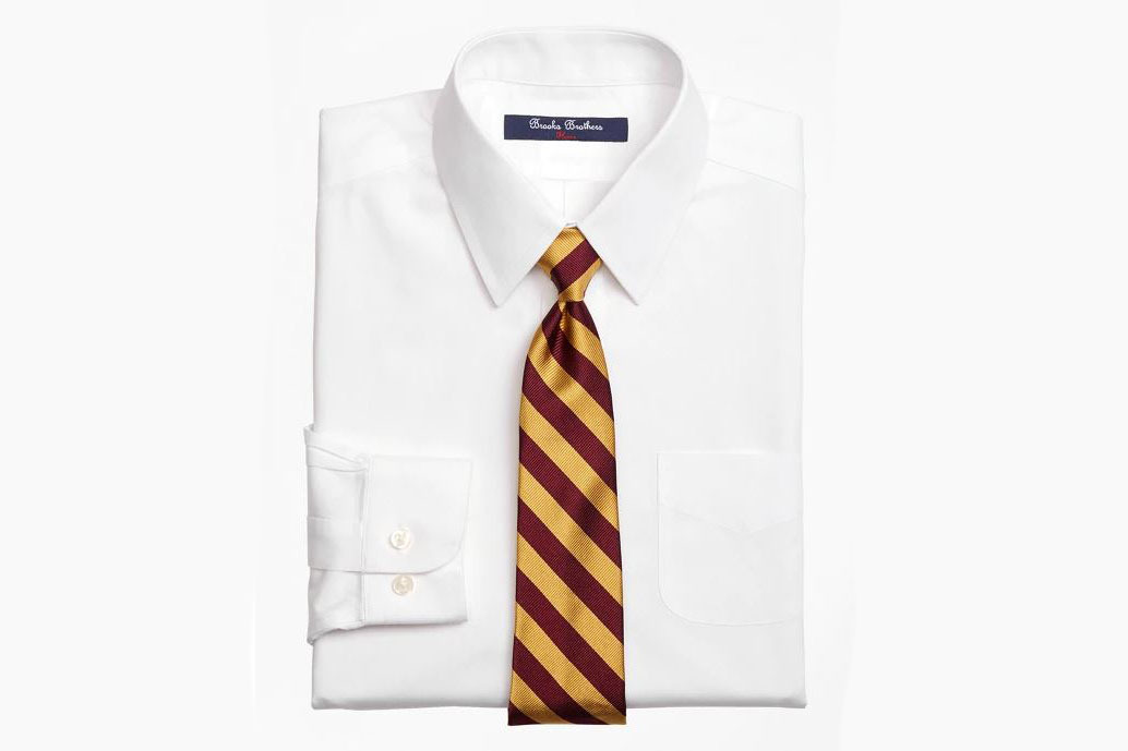Brooks Brothers Boys Non-Iron Supima Pinpoint Cotton Dress Shirt