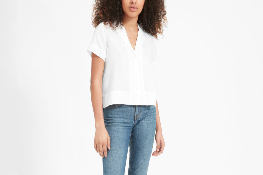 Everlane Linen Notch Short-Sleeve Shirt