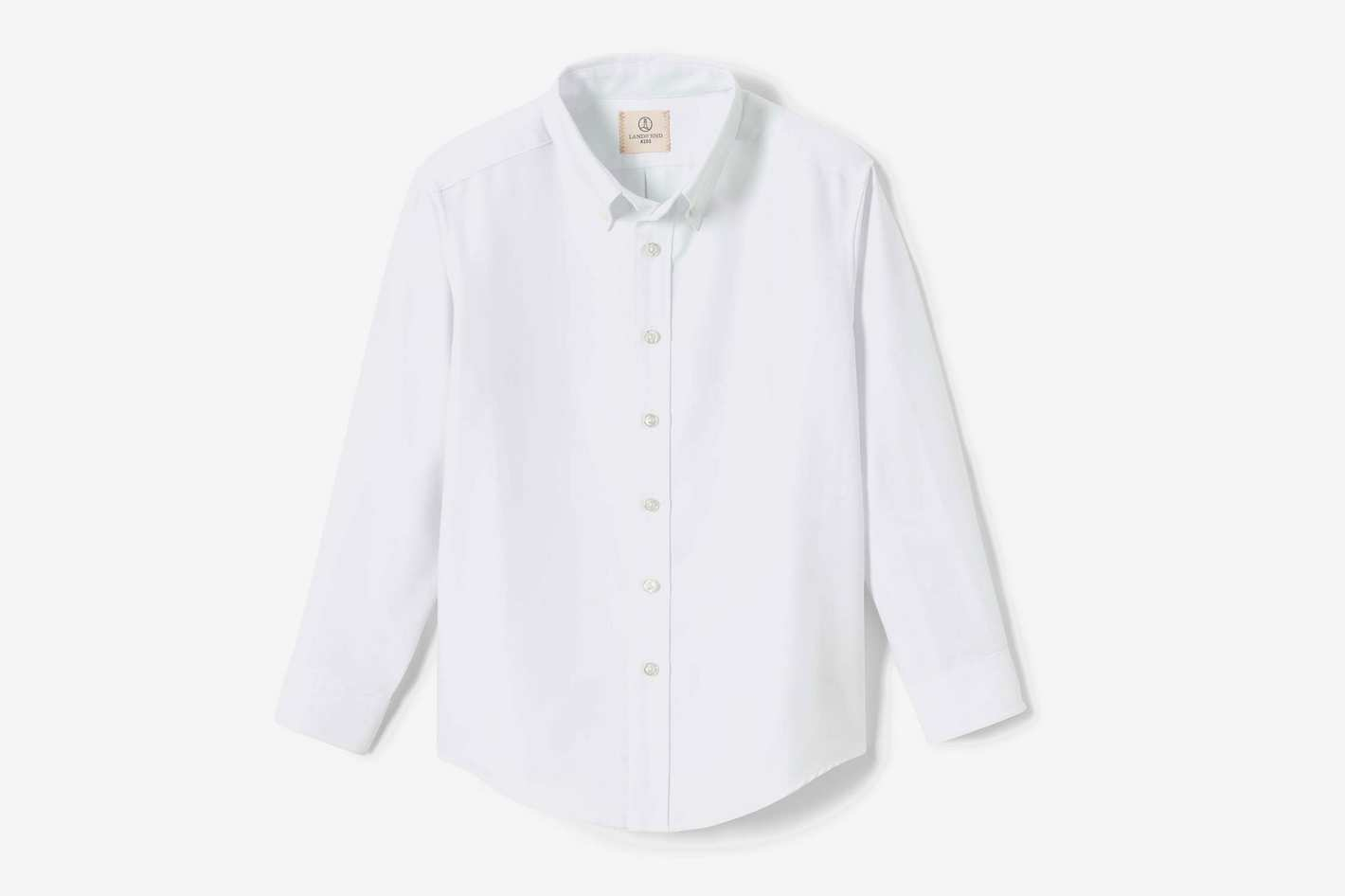 Lands' End School Uniform Boys Long Sleeve Oxford Dress Shirt