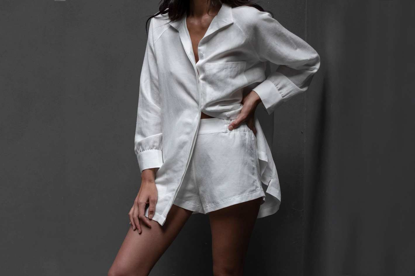 Lunya Resort Linen Silk Shirt Set