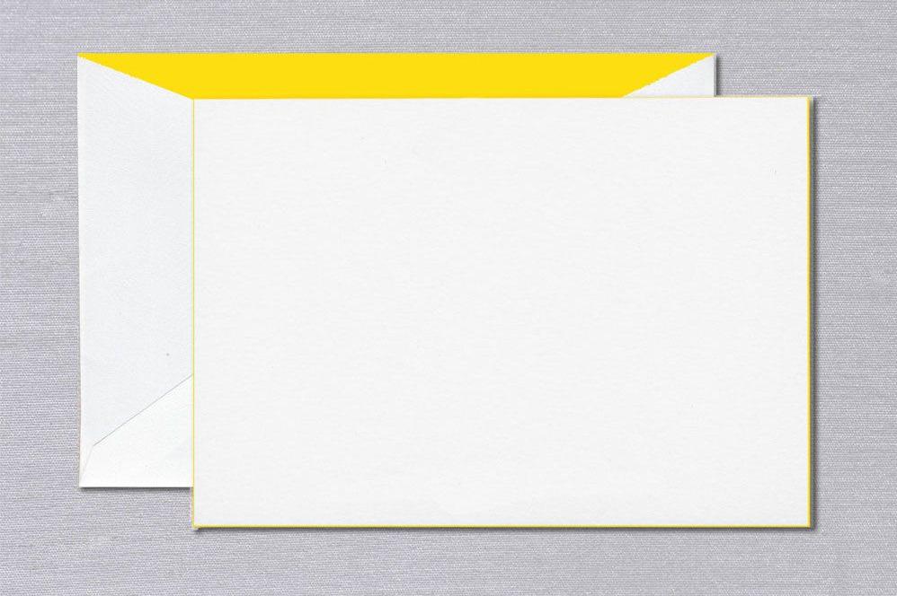 Crane Yellow Foil Edged Card