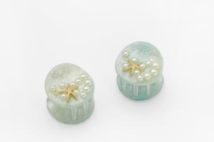 Valet Studio Ariel Clips in Mint