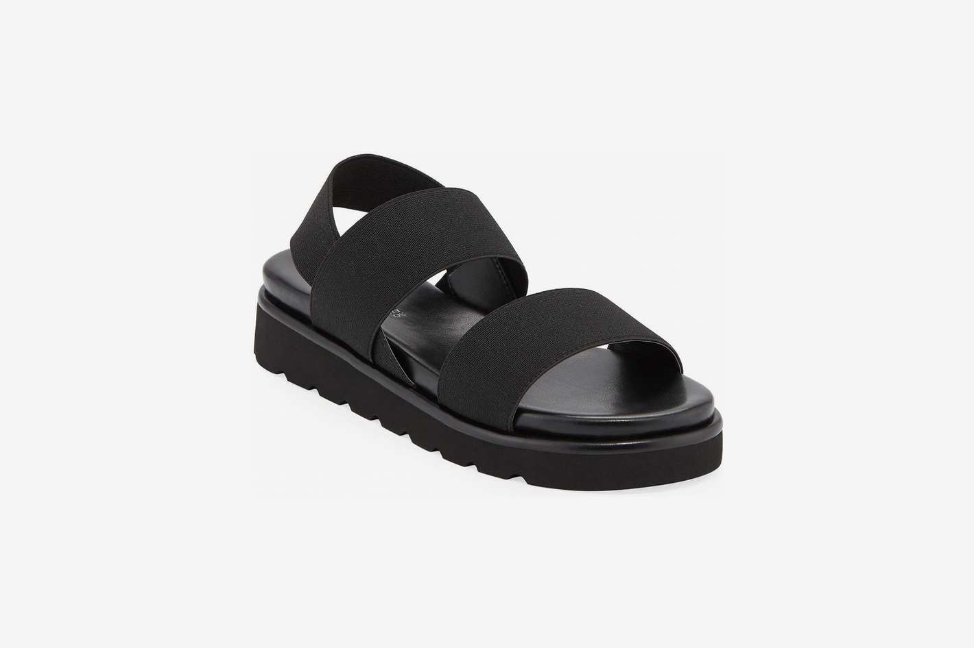 Donald J Pliner Lue Stretch-Strap Flatform Sandals