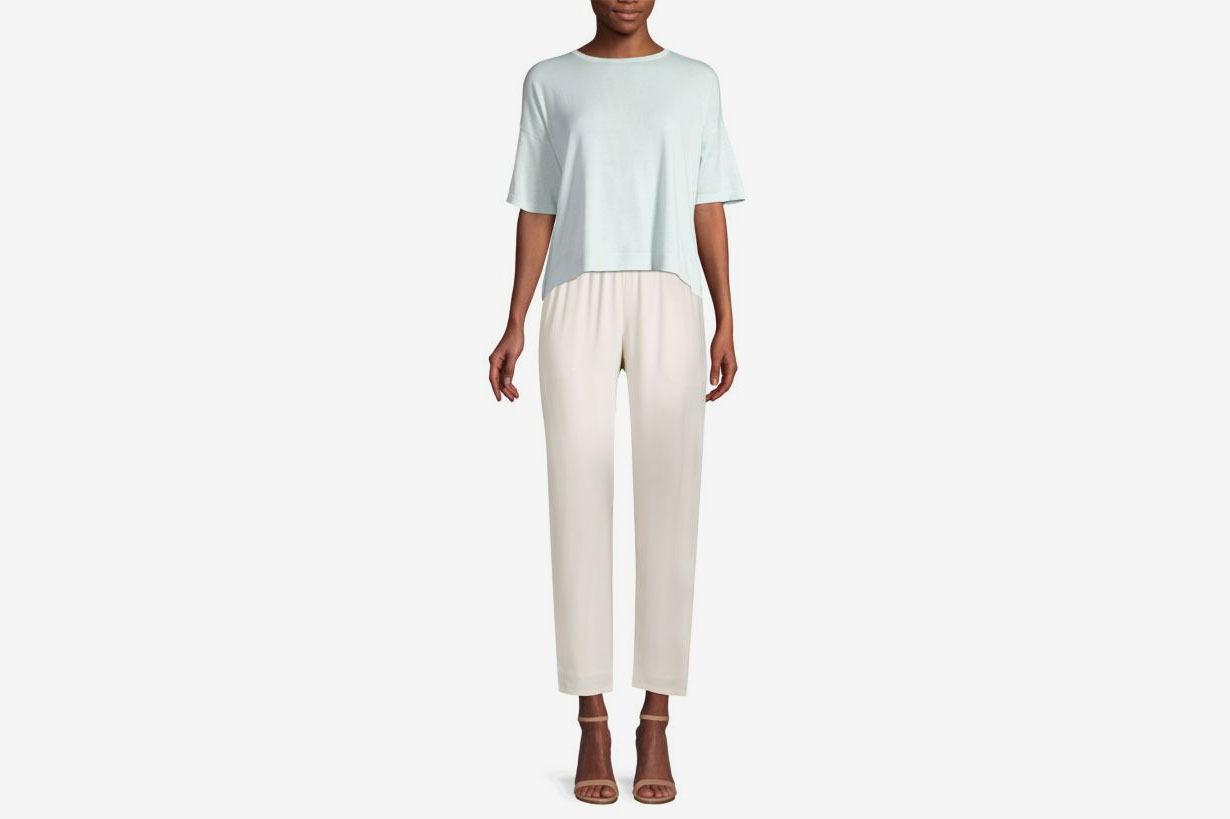 Eileen Fisher Short-Sleeve Drape Top