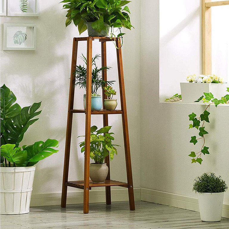 Magshion 3-Tier Bamboo Plant Stand