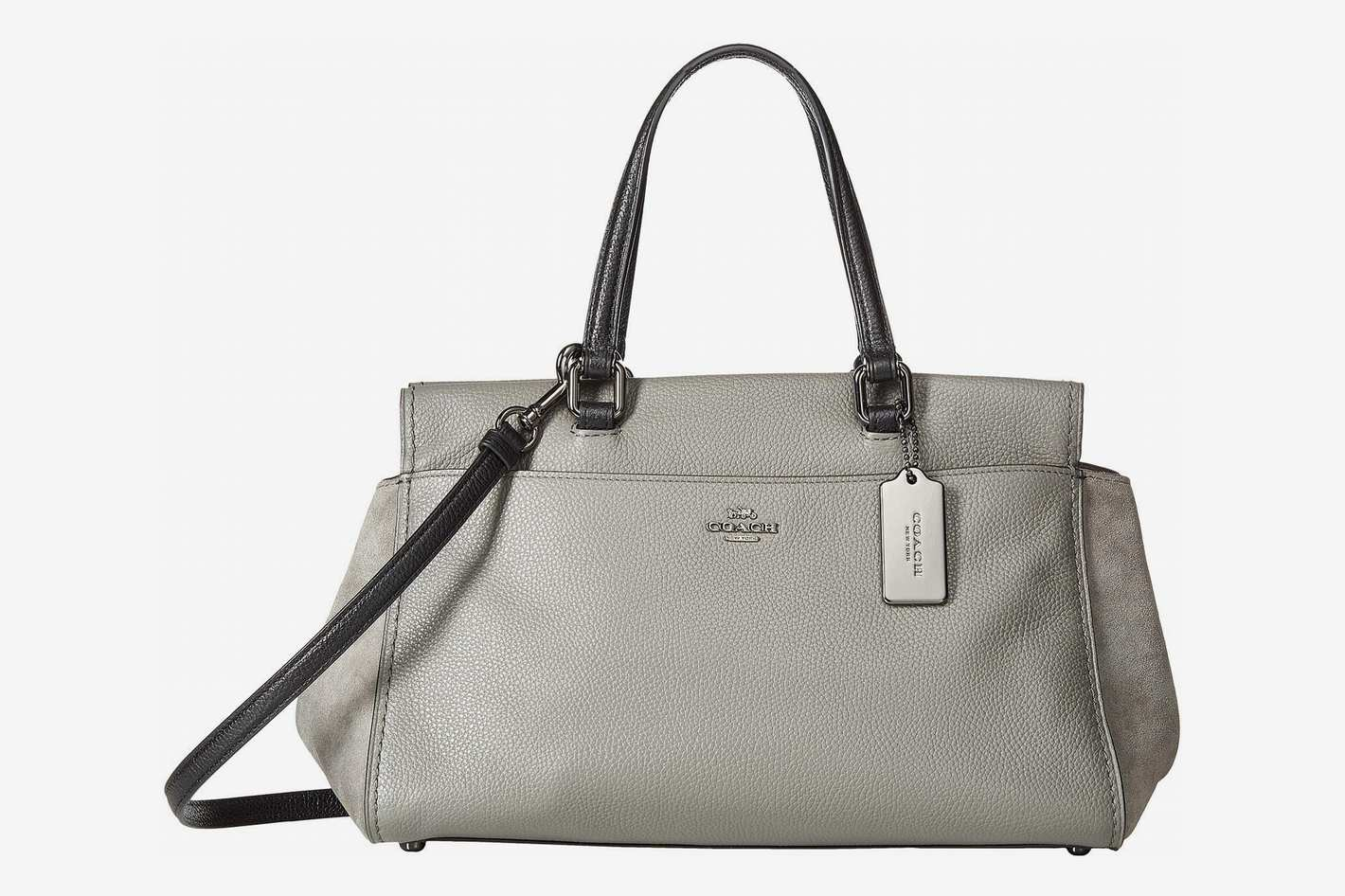 Coach Color Block Mixed Leather Fulton Satchel