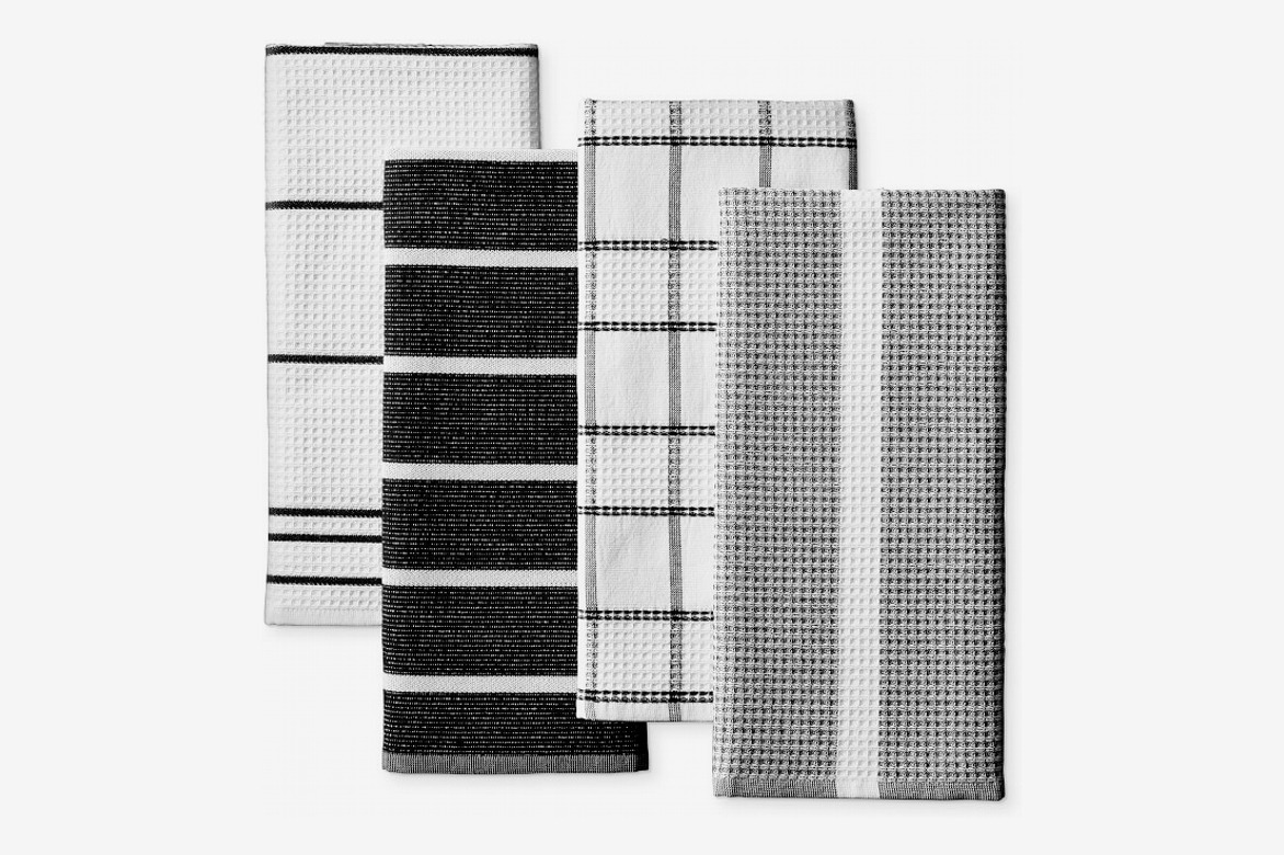 Williams Sonoma Super Absorbent Waffle Weave Multi-Pack Towels, Black