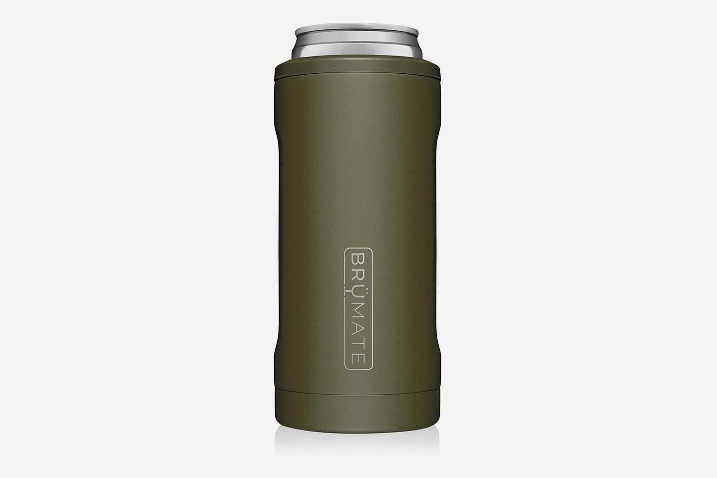BrüMate Hopsulator Slim Stainless Steel Insulated Can Cooler, OD Green