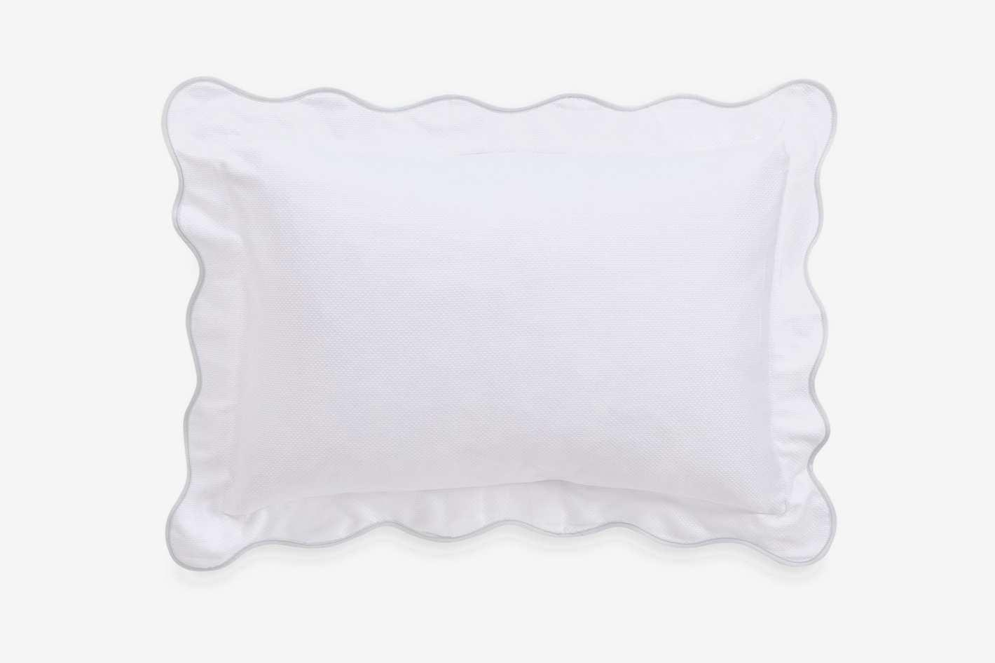 Barbara Barry Dream Peaceful Pique Fountain Oblong Throw Pillow in White