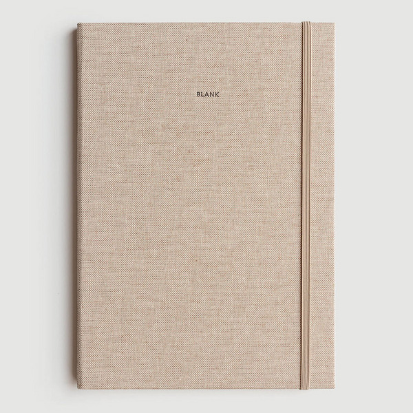 Milligram Blank Linen Notebook