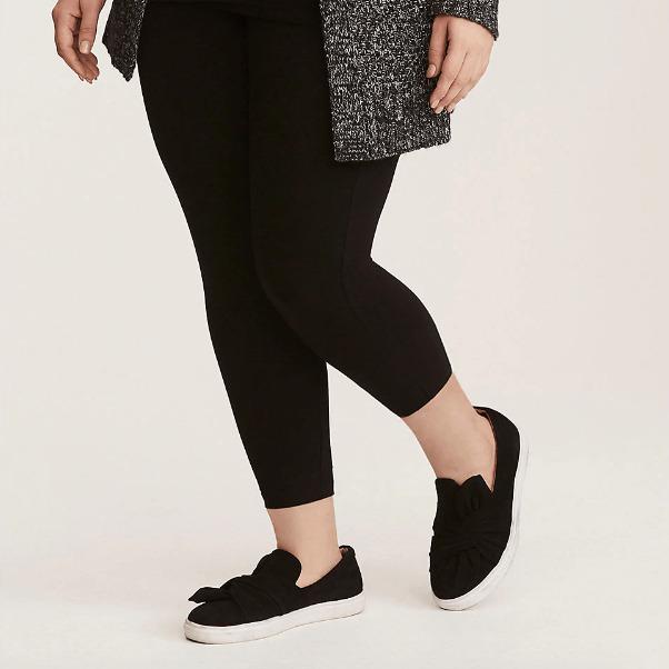 Torrid Black Cropped Premium Leggings