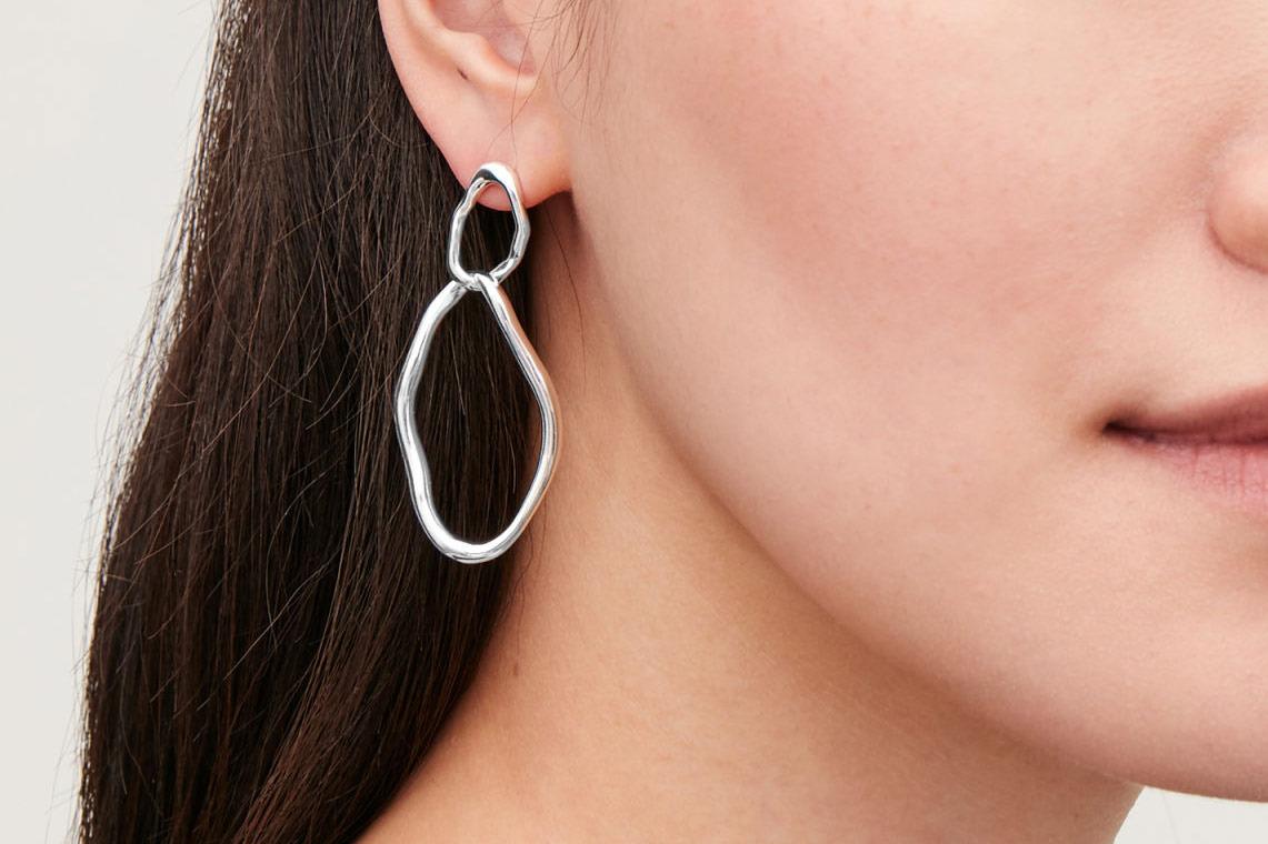 COS Uneven Earrings