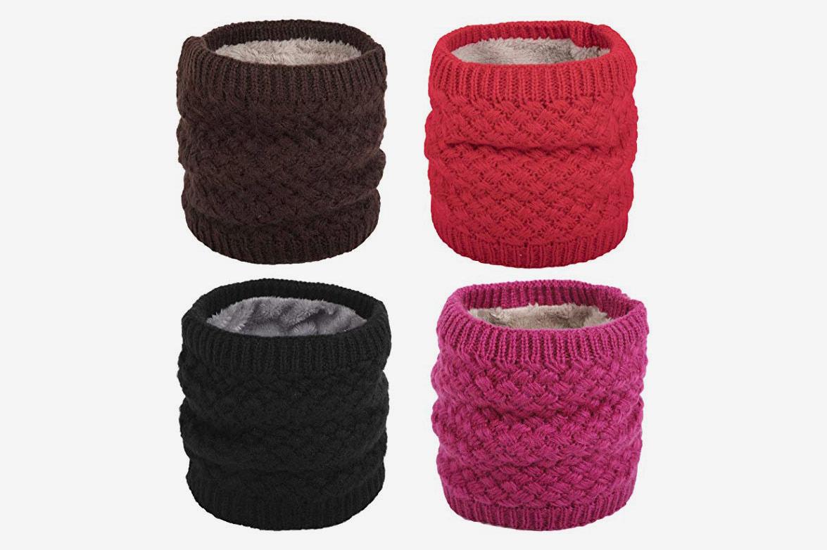 Couvre-cou tricoté hiver Flygo pour femmes