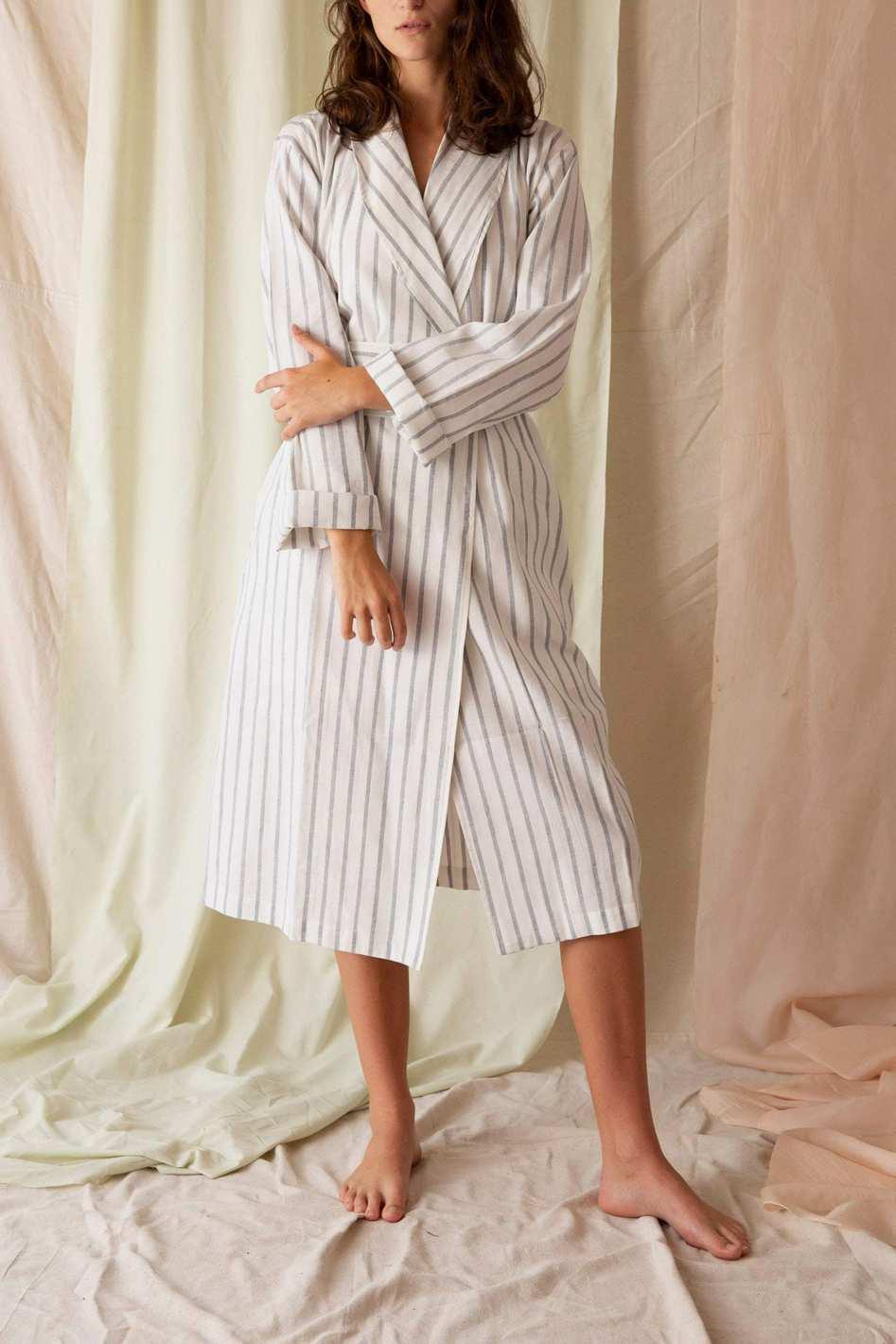 General Sleep Striped Robe