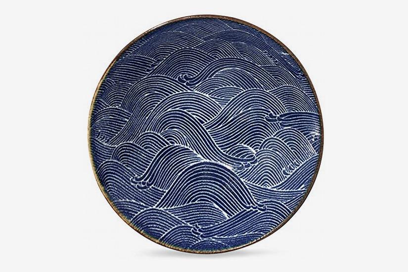 Tansu Aranami Blue Wave Serving Bowl