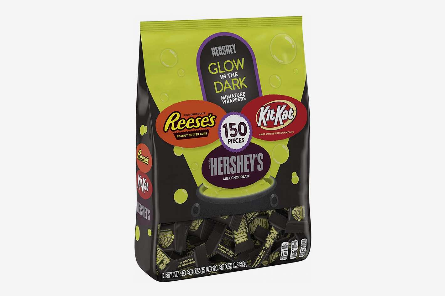 Hershey's Halloween Chocolate Candy, Glow in the Dark Wrapped Variety Mix