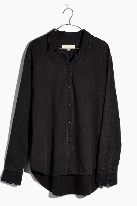 Madewell Denim Oversized Ex-Boyfriend Shirt