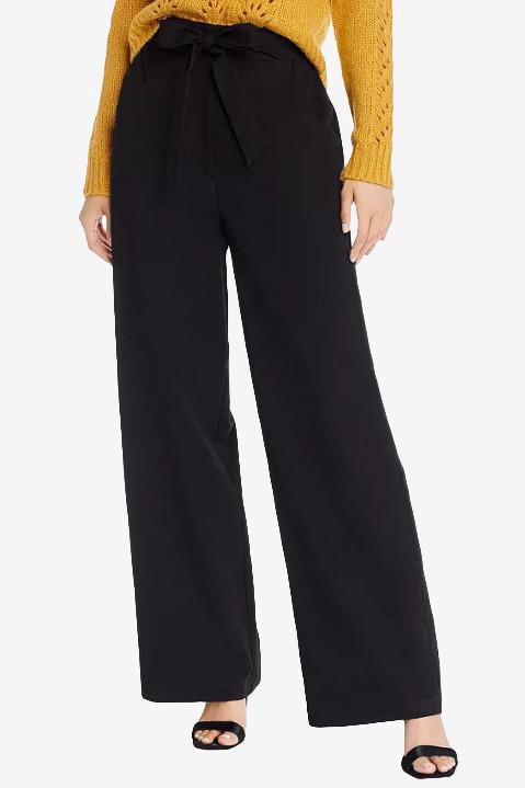 Aqua Tie-Waist Wide-Leg Pants