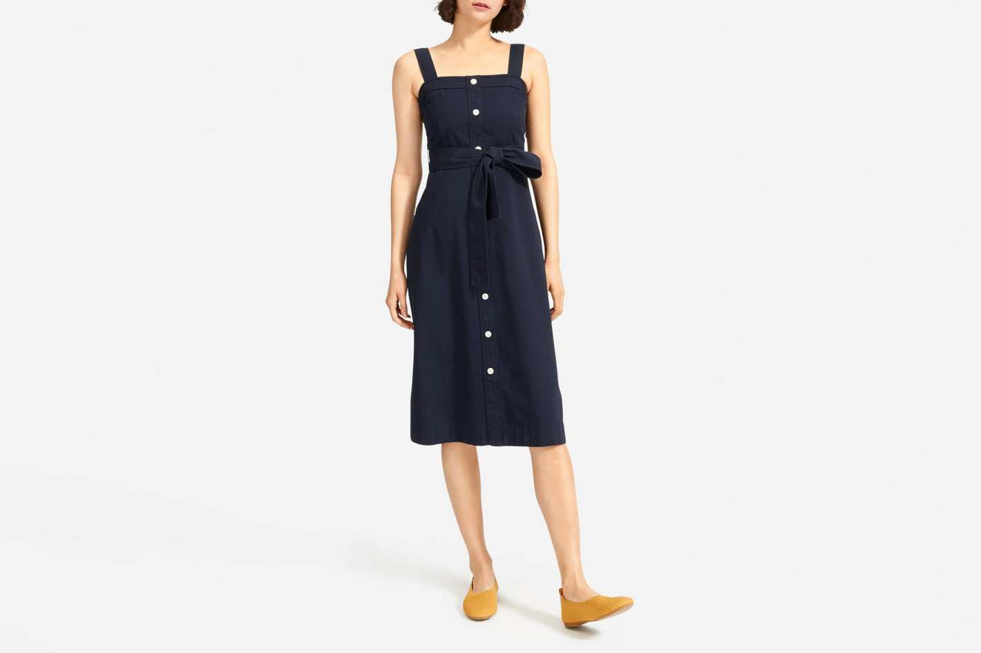 Everlane Cotton-Weave Picnic Dress