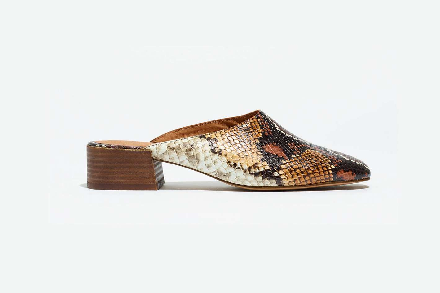 Madewell Alicia Mule in Snake Embossed Leather