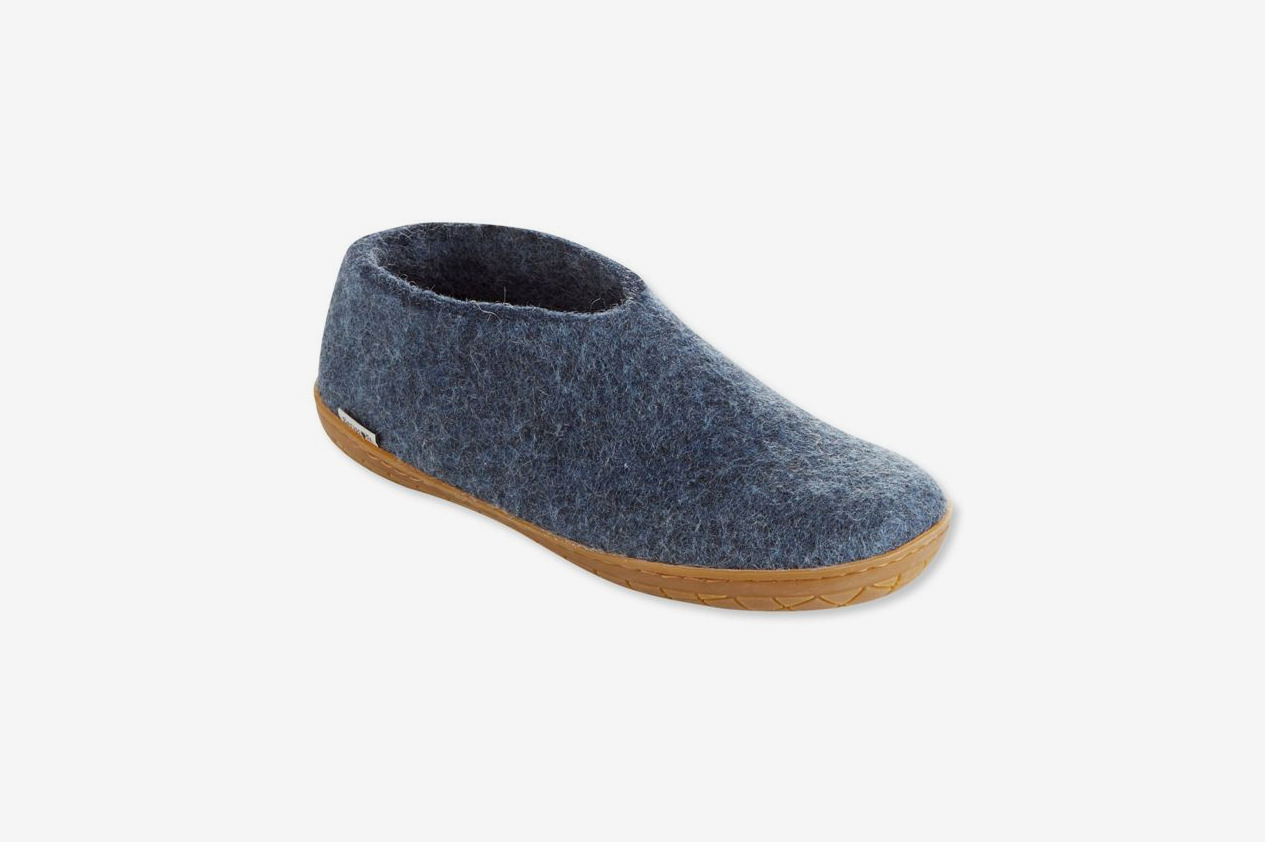 Glerups Wool Slipper Shoes, Rubber Outsole