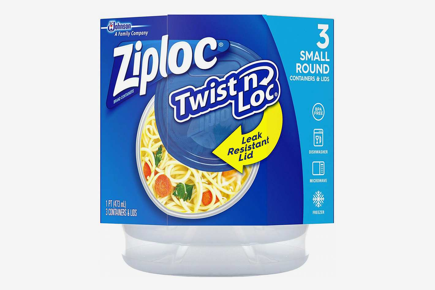 Ziploc Twist 'N Loc Containers, 16 oz. - Set of 3