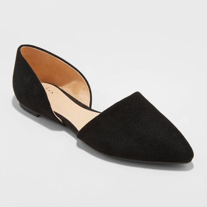 Target Rebecca Microsuede Pointed Ballet Flats