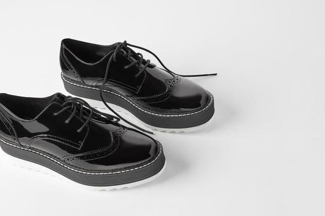 Zara Flat Platform Derby Shoes