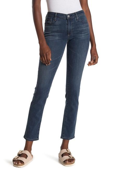AG Mid-Rise Cigarette Jeans