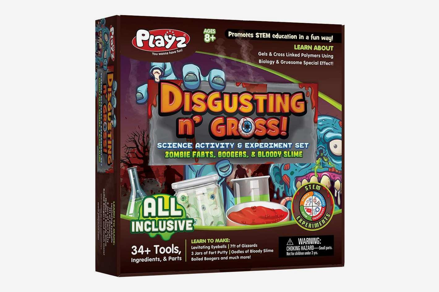 Playz Disgusting n' Gross Zombie Farts, Boogers, & Bloody Slime Science Activity & Experiment Set