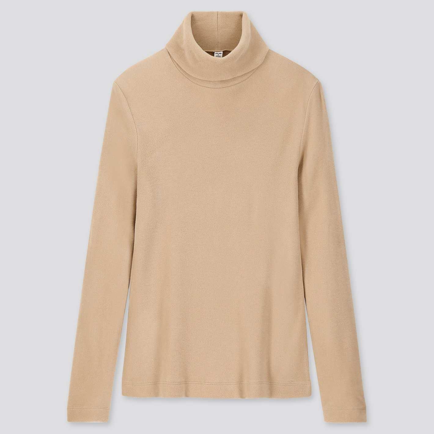 T-shirt à manches longues Unitlo pour femmes en polaire Heattech