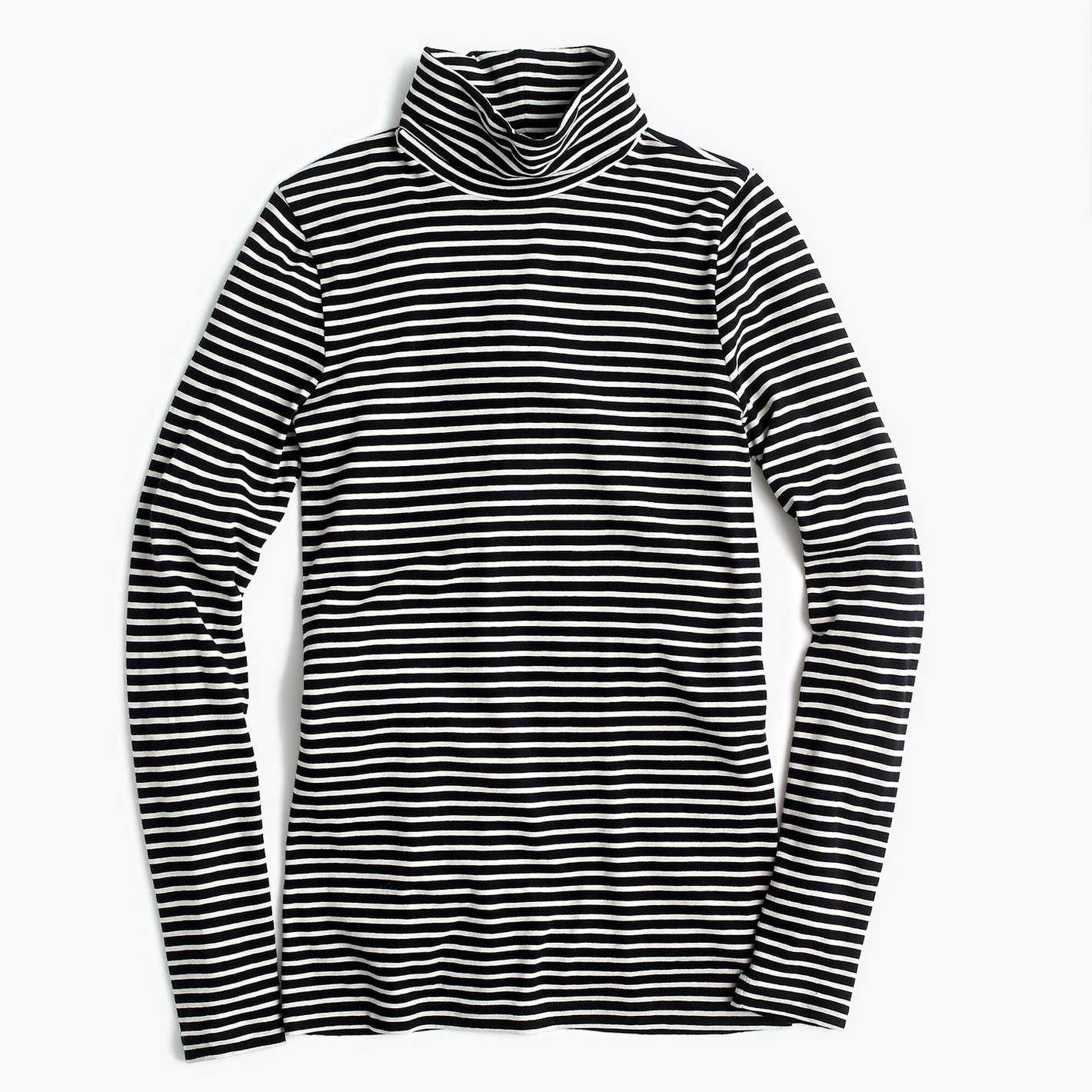 T-shirt à col roulé en tissu J.Crew à rayures