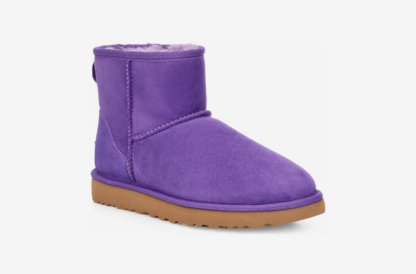 Ugg Classic Mini II Genuine Shearling Lined Boot, Violet Bloom Suede
