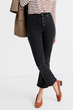 Madewell Cali Demi-Boot Jeans in Bellspring Wash: Button-Front Edition