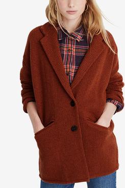 Madewell Textured Blazer Sweater Jacket