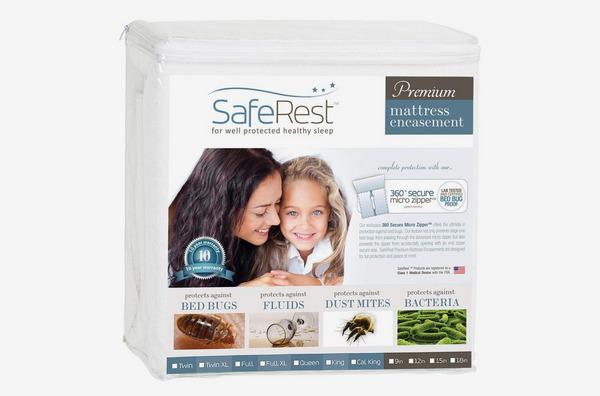 SafeRest Premium Zippered Bedbug Proof Mattress Encasement