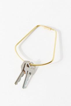 Areaware Contour Brass Bell Keyring