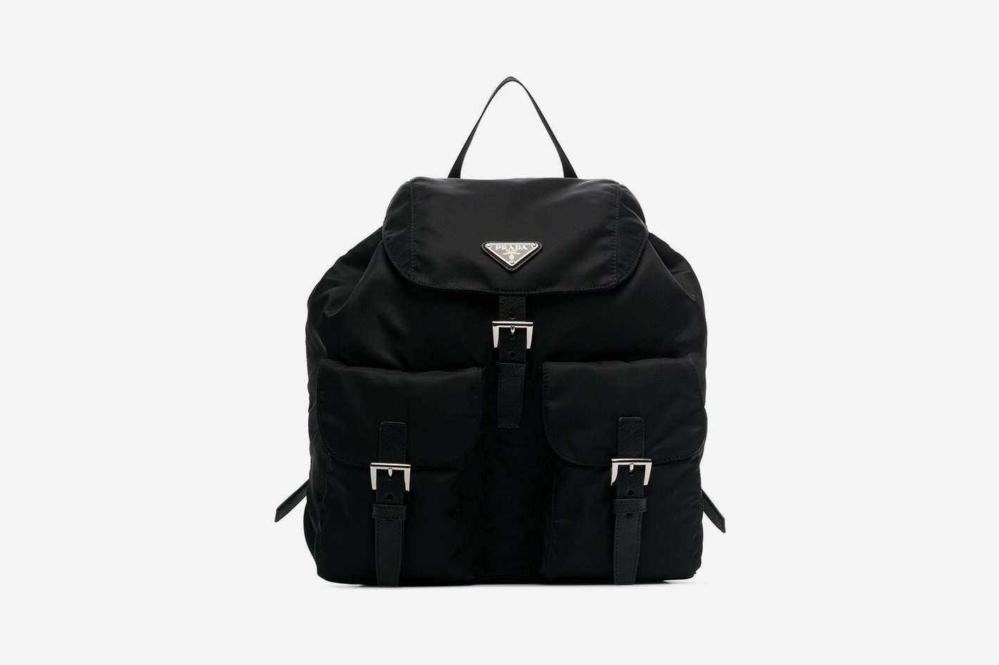 Prada Triangle Logo Nylon Backpack