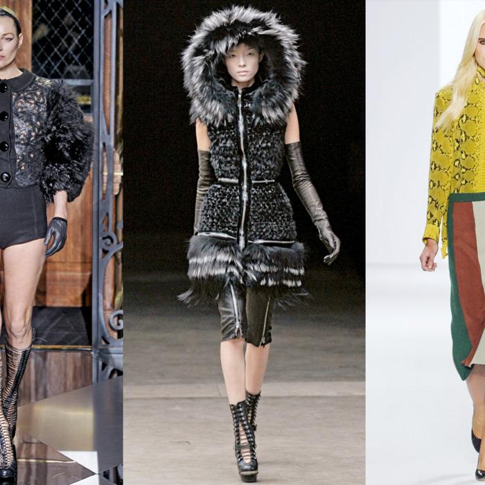 From left: Louis Vuitton, Alexander McQueen, Chloé