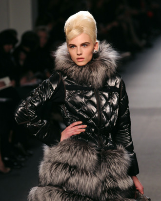 Model Andrej Pejic displays a creation by French designer Jean Paul Gaultier during the Autumn/Winter 2011-2012 ready-to-wear collection show on March 5, 2011 in Paris. AFP PHOTO/Pierre Verdy (Photo credit should read PIERRE VERDY/AFP/Getty Images)